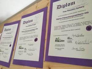 Diplome von Diplomausbildung